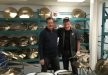 With Sabian product specialist Dave Williams